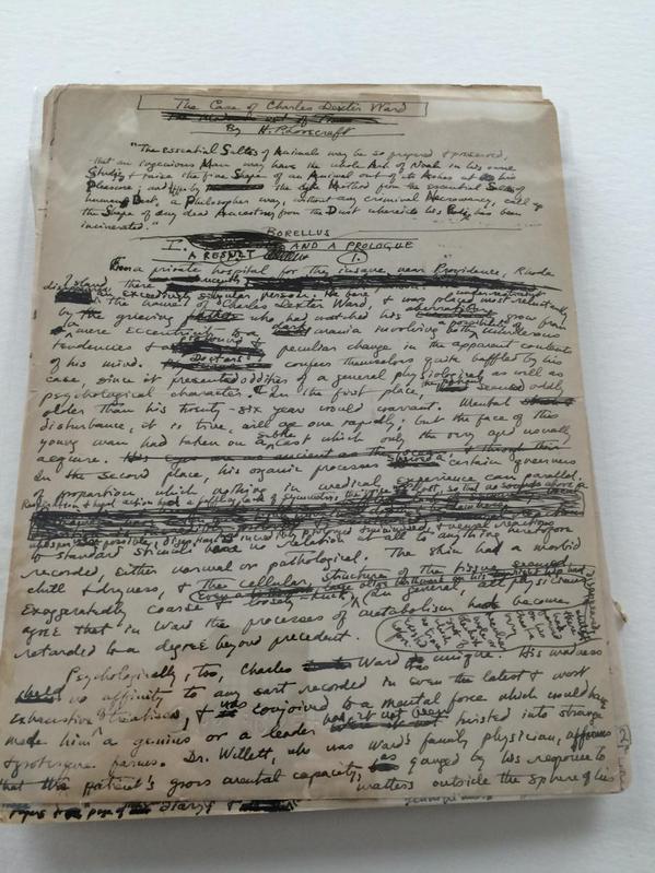 More Charles Dexter Ward manuscript
